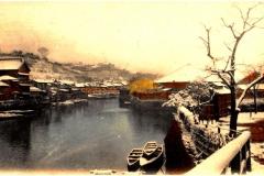 大岡川の風景中村川9時49分50秒_001横浜西の橋川岸雪の景_light