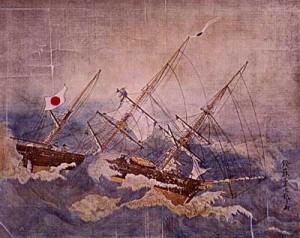 No.34 2月3日 ポサドニック号事件で咸臨丸発進
