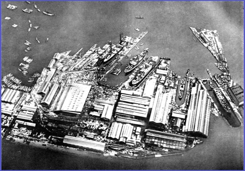 1890年当時の横浜港