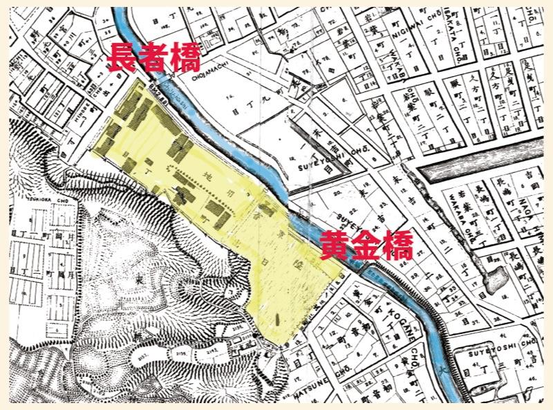 明治14年迅速図 太田陣屋跡