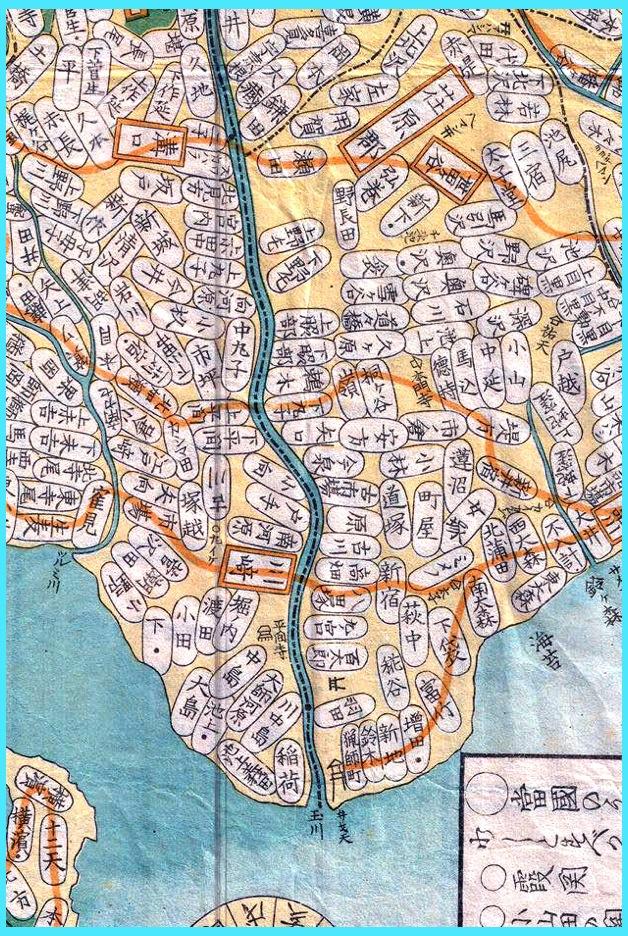 武蔵国橘樹郡地図