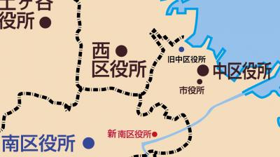 中区役所位置図
