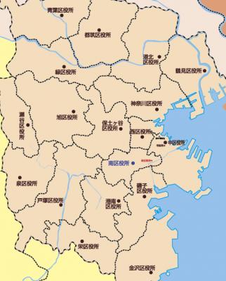 区役所位置図