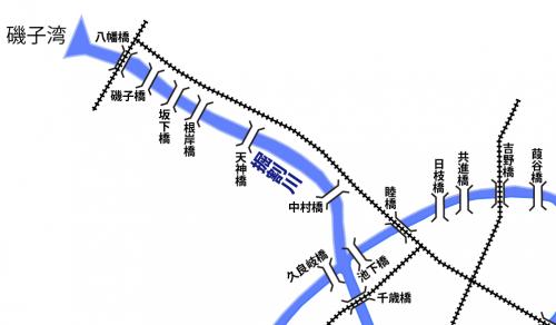 No.700  【横浜の河川】川いろはのイ