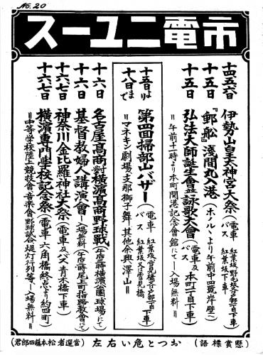 【市電ニュースの風景】1931年 №20