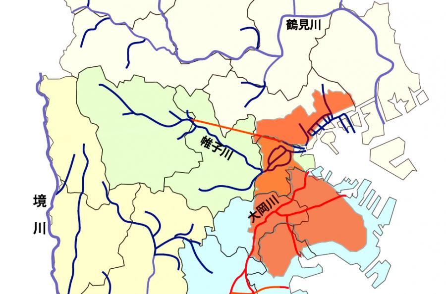 1911年市域拡大水系