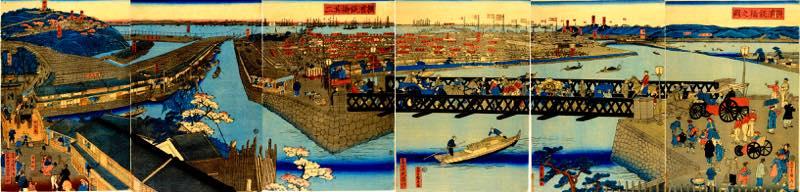 第949話【横浜絵】五雲亭貞秀「横浜鉄橋之図」2