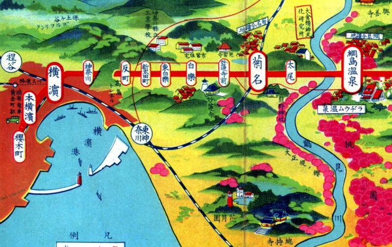第951話【横浜の地図】東京横浜電鉄