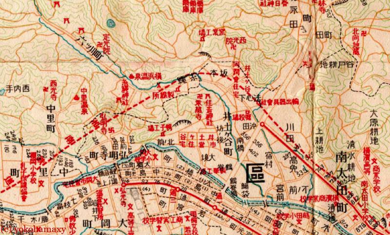 昭和3年弘明寺周辺図